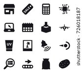 16 vector icon set   shop  sale ...