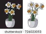 illustration on white and black ... | Shutterstock .eps vector #726023053