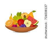 fruits and berries. healthy... | Shutterstock .eps vector #726038137