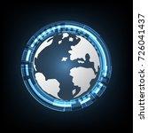 technology cyber abstract world ...   Shutterstock .eps vector #726041437