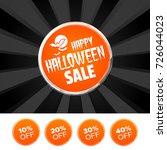 happy halloween sale banner and ... | Shutterstock .eps vector #726044023