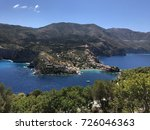 a view of assos village on its... | Shutterstock . vector #726046363