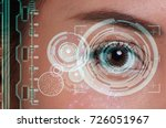 woman being futuristic vision... | Shutterstock . vector #726051967