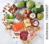 assortment of healthy protein... | Shutterstock . vector #726052027