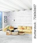 white bedroom or livingroom... | Shutterstock . vector #726063607