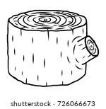 wood stump   cartoon vector and ... | Shutterstock .eps vector #726066673