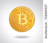 printbitcoin. physical bit coin....   Shutterstock .eps vector #726069337
