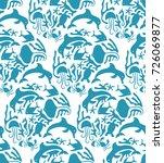 vector otomi style marine... | Shutterstock .eps vector #726069877