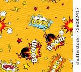 seamless pattern cartoon comic... | Shutterstock . vector #726082417