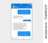 social network messenger... | Shutterstock .eps vector #726083197