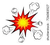 cartoon comic empty bubbles... | Shutterstock . vector #726083527