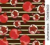 pomegranate seamless background ... | Shutterstock .eps vector #726085633