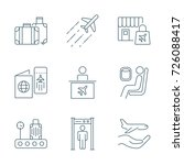 airport set of vector icons | Shutterstock .eps vector #726088417