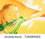 sleeping baby | Shutterstock . vector #726089683