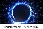 abstract fire ring of blue... | Shutterstock . vector #726090433