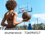 young african american woman in ... | Shutterstock . vector #726096517