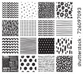seamless patterns with hand... | Shutterstock .eps vector #726097093