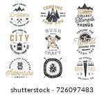 vintage hand drawn travel badge ... | Shutterstock . vector #726097483