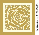 laser cut square template with... | Shutterstock .eps vector #726099823