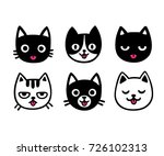 cute cartoon cat drawing set ... | Shutterstock .eps vector #726102313