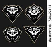 bodybuilder sport fitness logo  ...   Shutterstock .eps vector #726102643