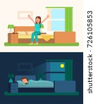 day and night pictures with... | Shutterstock .eps vector #726105853