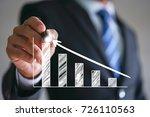 businessman present growing a... | Shutterstock . vector #726110563