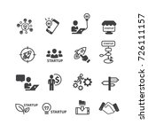 business and startup icons set... | Shutterstock .eps vector #726111157