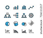 chart and diagram icons set... | Shutterstock .eps vector #726111217
