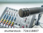 professional microphone and... | Shutterstock . vector #726118807