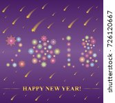2018 made of snowflakes. hand... | Shutterstock .eps vector #726120667