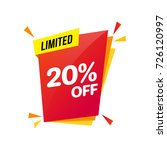 discount sale limited  20 off   ... | Shutterstock .eps vector #726120997