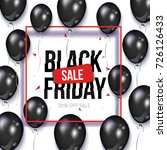 black friday square sale banner ... | Shutterstock .eps vector #726126433