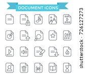 document icons  line flat design | Shutterstock .eps vector #726127273