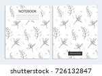 notebook with herb and spice... | Shutterstock .eps vector #726132847