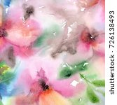 floral background. watercolor... | Shutterstock . vector #726138493