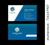 business card template design...   Shutterstock .eps vector #726147907