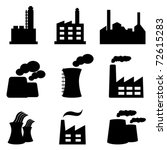 factory  power plants and... | Shutterstock .eps vector #72615283