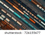 aerial view of colorful freight ... | Shutterstock . vector #726155677