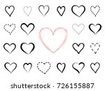 love heart drawn icon set.... | Shutterstock .eps vector #726155887