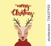 christmas card. hand drawn... | Shutterstock .eps vector #726157933