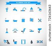 plumbing icons set vector | Shutterstock .eps vector #726163663