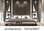 interior bedroom studio mock up ...   Shutterstock . vector #726169867