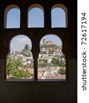 View Over Granada Though Arab...