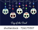day of the dead card or... | Shutterstock .eps vector #726175507