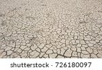 footprints of an animal in dry... | Shutterstock . vector #726180097