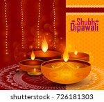 happy diwali light festival of... | Shutterstock .eps vector #726181303