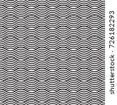 black and white seamless wave... | Shutterstock .eps vector #726182293