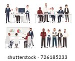 set of office workers dressed... | Shutterstock .eps vector #726185233