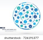 abstract social network... | Shutterstock .eps vector #726191377